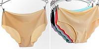 Бесшовные трусики-слип, обработка-горячие ножницы, разные цвета и размеры. Розница и оптом.