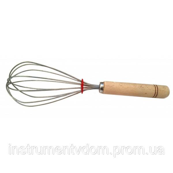 """Венчик для взбивания с деревянной ручкой """"Украиночка"""", 26 см (упаковка 10 шт)"""