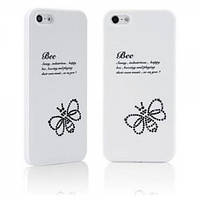 Star5 Insect Story Bee White for iPhone 5/5S/SE (with Swarovski)