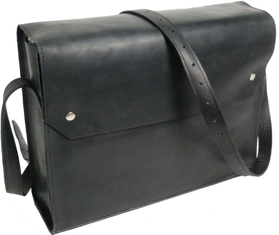 Сумка кожаная месенджер Agruz 280516 черный