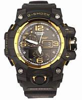 Часы наручные кварцевые мужские Сasio G-Shock Black Yellow