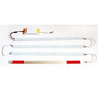 Комплект LED светодиодных линеек (4 шт) SMD 2835(С отверстием) 50см + блок питания