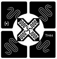 TH44 Omni - RFID-метка с чипом Impinj Monza 4 для логистики, склада и ПВХ карт