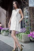 Летнее льняное платье Tandem