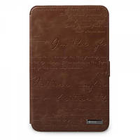ZENUS Galaxy Tab 7.0 (P3100) Leather Case 'Masstige' Lettering Diary Series - Brown
