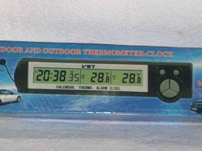 Автомобильные часы,термометр7043.