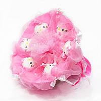 Букет из игрушек Котики 6 нежно-розовый, фото 1