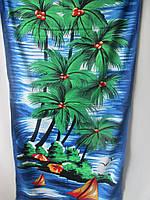 Полотенца пляжные с ярким рисунком.