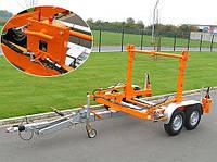 Прицеп для перевозки кабеля с гидрвлическим наклоном, нагрузка 2300-2700 кг.