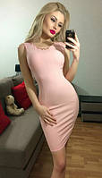 Стильное облегающее  платье в трех цветах 1049, фото 1