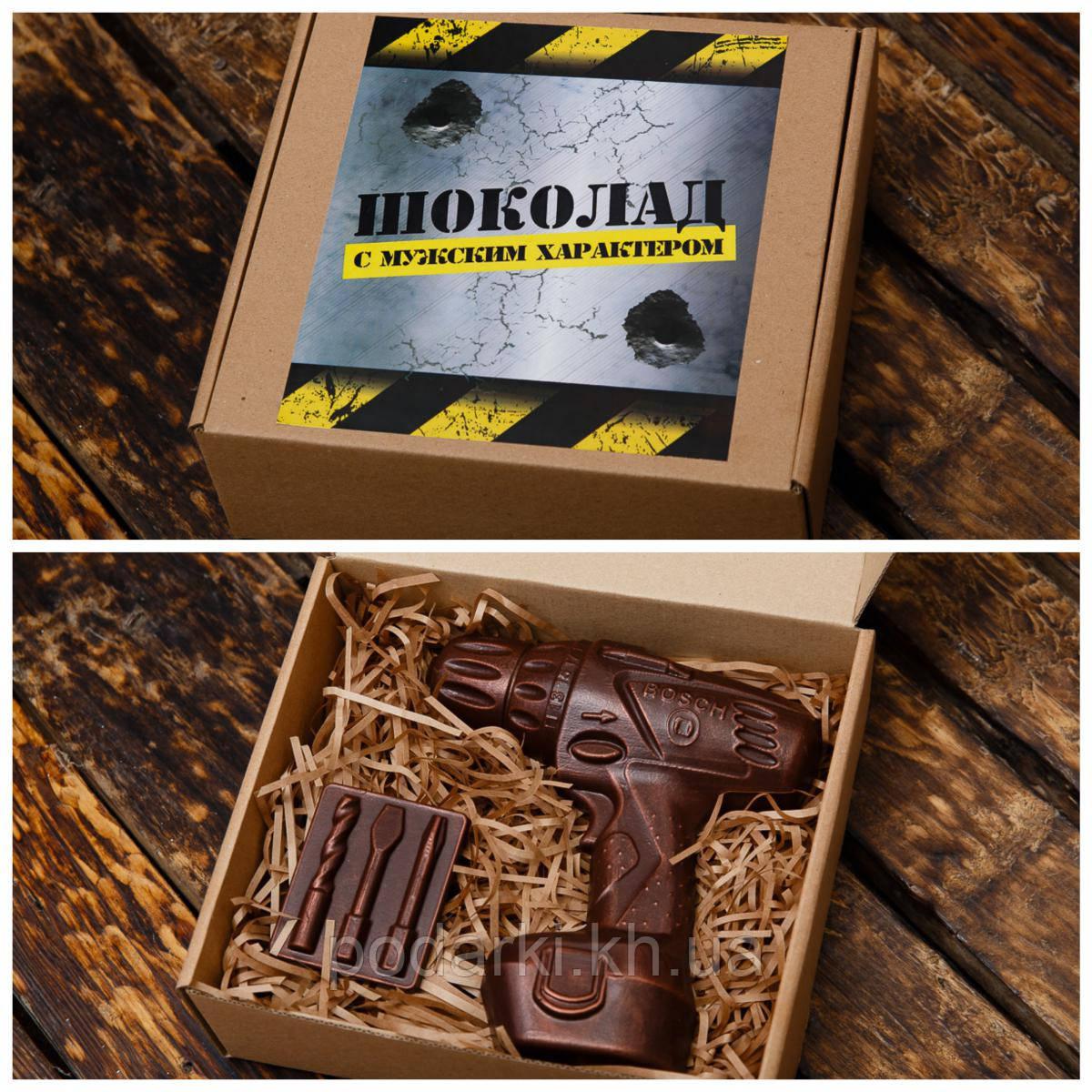 """Шоколадный набор """"Шуруповерт"""". Подарок папе на мужской праздник."""