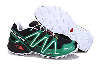 Кроссовки мужские беговые Salomon Speedcross (саломон) зеленые