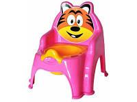 Детский горшок №1 013317 Фламинго-Тойс, розовый