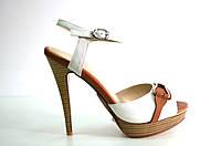Босоножки женские Gaterinna бежевые на каблуке, женские босоножки