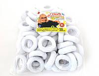 Резинка для волос - Калуш (50 шт), белая