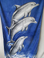 Красивые полотенца с дельфинами.