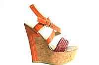 Босоножки женские Gaterinna оранжевые на платформе, женские босоножки