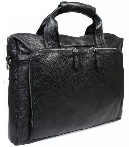 """Деловая мужская сумка для ноутбука 12"""" и документов А4, черная Alvi av-10-6006"""