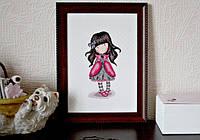 МК: вышиваем девочку Gorjuss от Bothy Threads