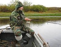 Костюм для рыбалки и охоты камуфлированный куртка и брюки
