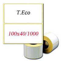 Термоэтикетка 100х40 мм.  T.Eco. СКИДКИ ПРИ ЗАКАЗЕ ОТ 5 РУЛ. Купить у производителя оптом и в розницу.
