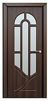 Дверь межкомнатная остекленная Аркадия (Орех шоколадный)