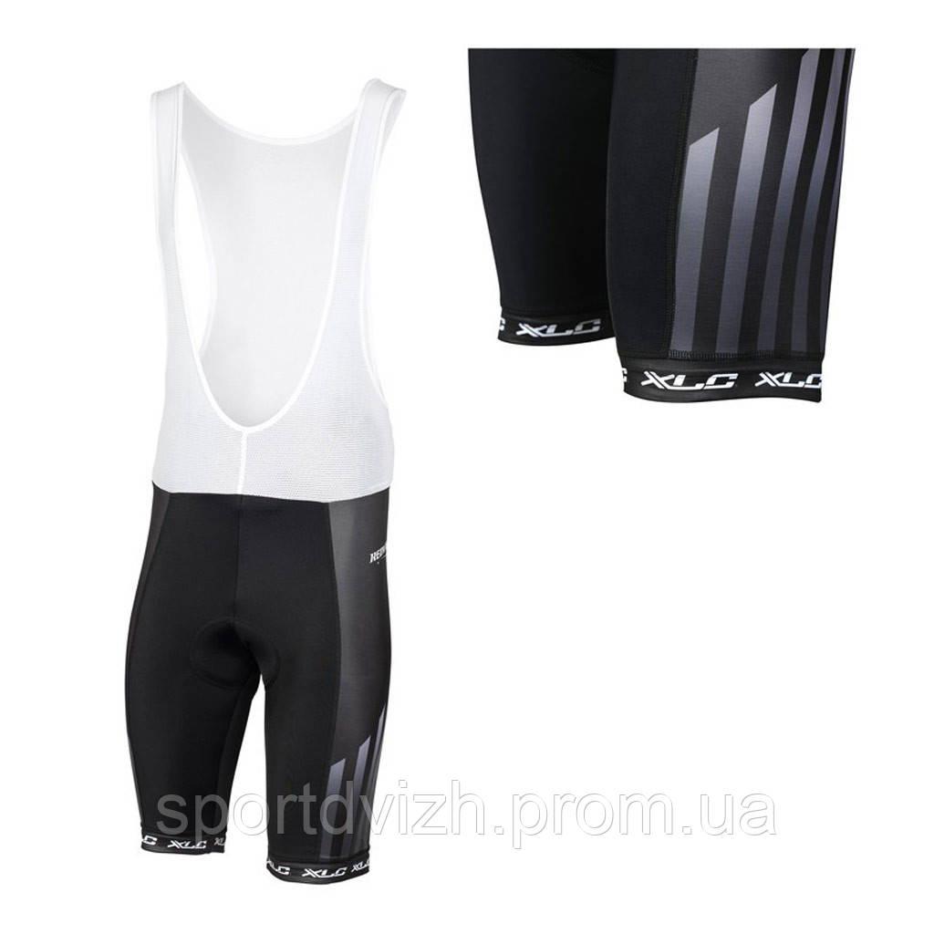 xlc Велошорты с лямками TR-S12, L, черно-белые, XLC 2510171700