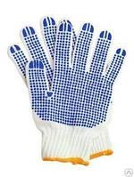 Перчатки с пвх точкой белые под заказа оптом о 50 шт
