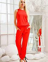 Женский красивый летний комбинезон брючный  красный