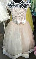 Нежное детское платье с бантиком