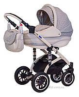 Детская коляска Adamex Lara len 266W бежевый