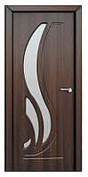 Дверь межкомнатная остекленная Сабрина (Орех шоколадный)