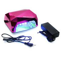 Лампа для сушки ногтей УФ Led лампа, 36 W (розовая)