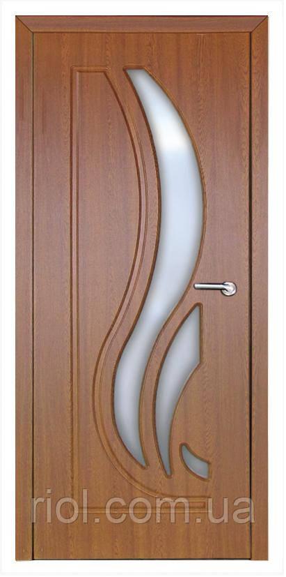 Дверь межкомнатная остекленная Сабрина (Дуб золотой)