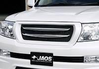 Решетка радиатора с хромированными вставками JAOS для  Toyota Land Cruiser 200 -12