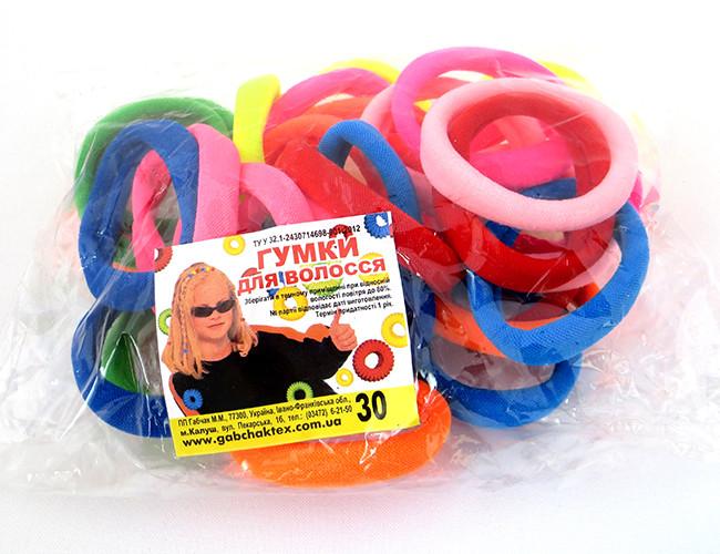 Резинка для волос - Калуш нейлон (30 шт), цветная