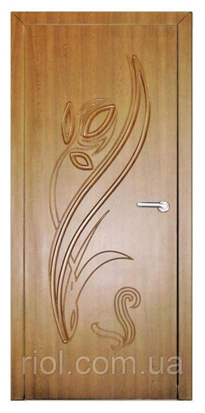 Дверь межкомнатная Тюльпан (Дуб золотой)