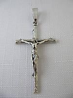 Крест серебряный 925*черненый с распятием
