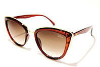 Очки женские DIOR 179 С2 SM 03415, женские очки-бабочки коричневого цвета