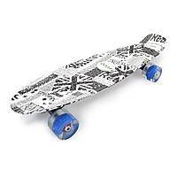 Скейт с подсветкой колес Penny 45, пенник для детей и подростков, скейт подростковый, скейт для ребенка