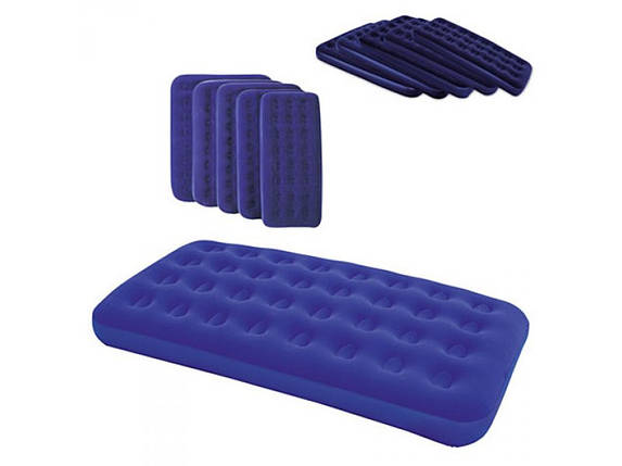 Надувной матрац велюровый синий, Bestway, фото 2