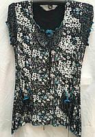 Летняя женская блуза большого размера с цветочным принтом
