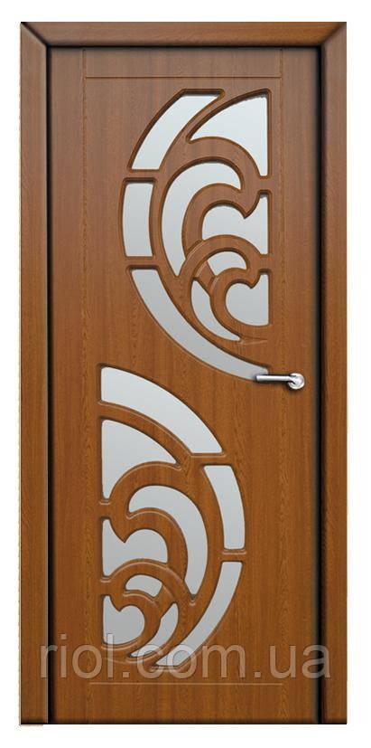 Дверь межкомнатная остекленная Прибой (Золотой дуб)