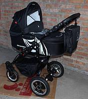 Универсальная коляска Grander Zebra (GZ 1) black Tutek