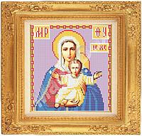 Схема для вышивки на габардине «Пресвятая Богородица Леушинская» ВШ,200х210,Габардин,Арт.С-18 /00-31