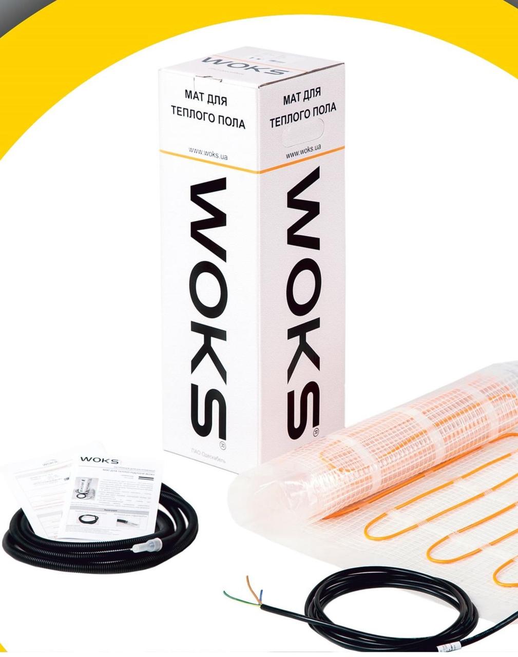 Тонкий нагревательный кабель  Woks-10 под плитку