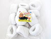 Резинка для волос - Калуш большая (12 шт), белая
