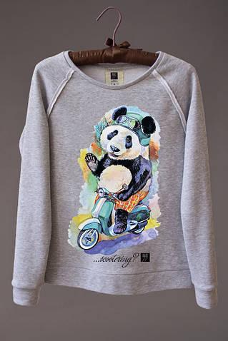 Женский светшот (свитшот) с принтом Панда