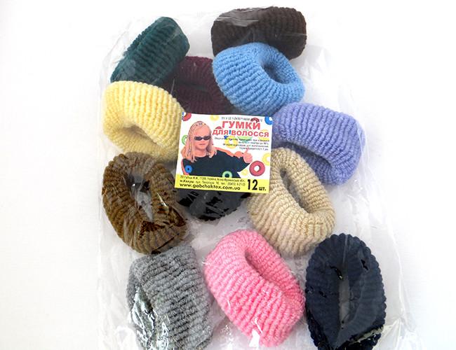 Резинки для волос - Калуш большая (12 шт), цветные