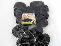 Резинка для волос - Калуш большая (12 шт), черная